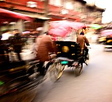 The Rickshaws by Ruben D. Mascaro