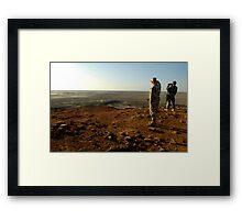 an inspiring Iraq landscape Framed Print