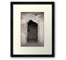Ancient Horse Stable Framed Print