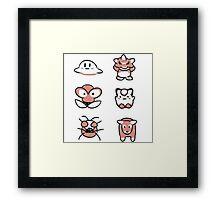 Retro Pokémon Framed Print
