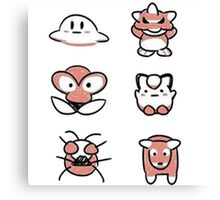 Retro Pokémon Canvas Print