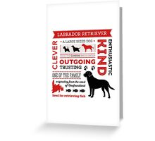 Labrador Infographic Greeting Card