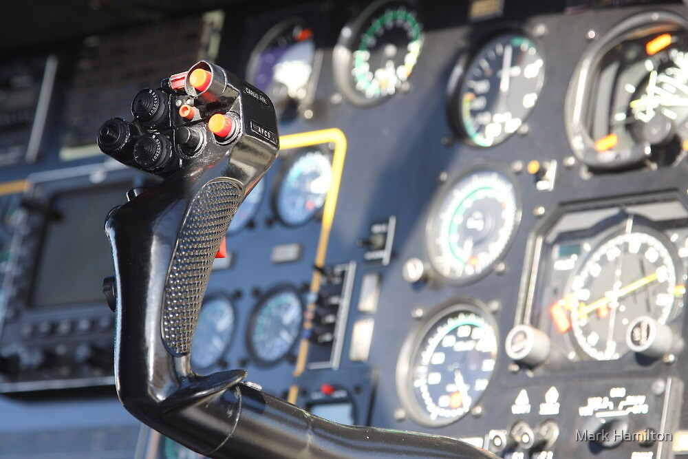 Helicopter gauges close up puma by Mark Hamilton