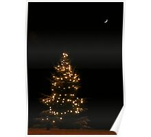 Let there be light, snow and Christmas Poster
