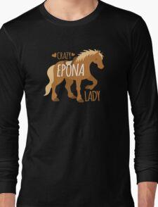 Crazy Epona (pony horse) Lady Long Sleeve T-Shirt