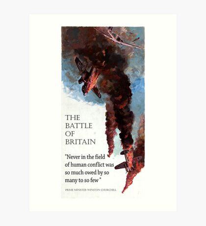The Battle Of Britain WW2 Art reproduction Art Print