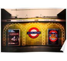 Sloane Square Tube Station Poster