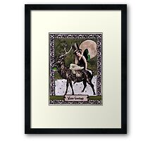 Winter Greetings Framed Print
