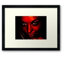 Stars in Your Eyes, Life in your Face Framed Print