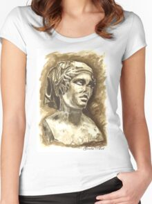 Female Bust - Sculpture I-III DC, Rome Women's Fitted Scoop T-Shirt