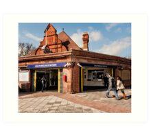 Southfields Tube Station Art Print