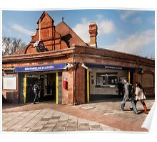Southfields Tube Station Poster
