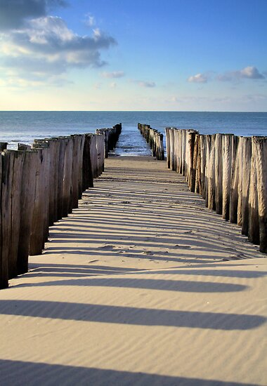 Breakwater Renesse by Jo Nijenhuis
