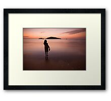 My wife, my best friend. Framed Print
