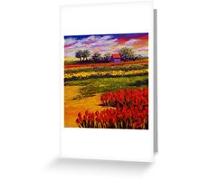 Red Tulips in the Netherlands Greeting Card
