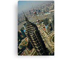 Jinmao Tower Vs. Shanghai Oriental Pearl Tower Canvas Print