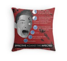Zombie Infographic  Throw Pillow