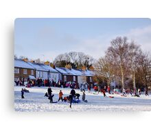 Winter Sports in Harpenden Canvas Print