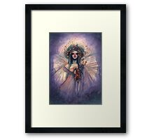 Shimmering Dream - Fairy with Flower Bouquet Framed Print