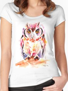 Little Owl Women's Fitted Scoop T-Shirt