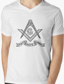 Masons Faith Hope Charity Mens V-Neck T-Shirt