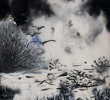 Birds, Tree and Chaos (my painting job) II by Antanas