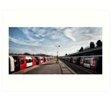 Stanmore Tube Station Art Print