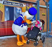 Rosalie meets Donald Duck by Adri  Padmos