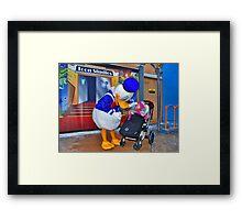 Rosalie meets Donald Duck Framed Print
