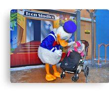Rosalie meets Donald Duck Metal Print