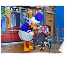 Rosalie meets Donald Duck Poster