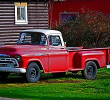 Stolen Red Pickup #2 by Bryan D. Spellman