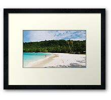 somewhere in paradise Framed Print