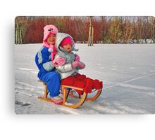 A sleigh ride..... Canvas Print