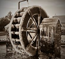 Winter Water Wheel by Peter  Daly