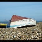 Aldeburgh Upside Down Boat by fandangle-art