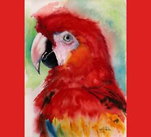 Scarlet Macaw Womens Fitted T-Shirt