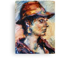 The hat Canvas Print
