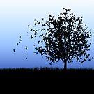 Leaves Leaving the Tree by Pamela Maxwell