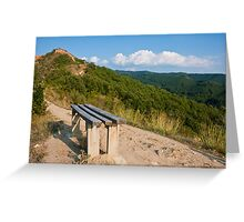Mountain Bench Greeting Card