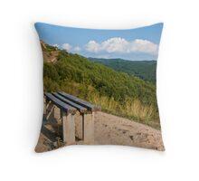 Mountain Bench Throw Pillow