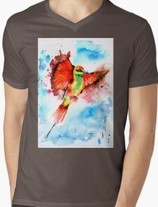 Green Bee Eater Mens V-Neck T-Shirt