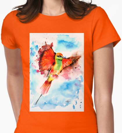 Green Bee Eater Womens Fitted T-Shirt