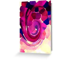 Psychedelic Paint Swirl - Pink Greeting Card