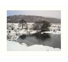 icey river.  Art Print