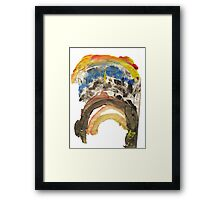 Drippy Rainbow Framed Print