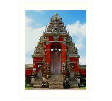 Red Temple Art Print