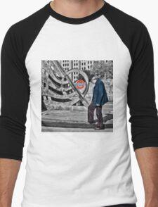 Tower Hill Tube Station Men's Baseball ¾ T-Shirt