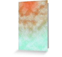 Cloudy Orange and Green Greeting Card