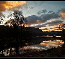 Sunset over Rydal water by Shaun Whiteman
